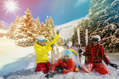 ski courses for kids in cortina